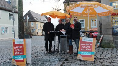 Freie Wähler Infostand Höchstadt